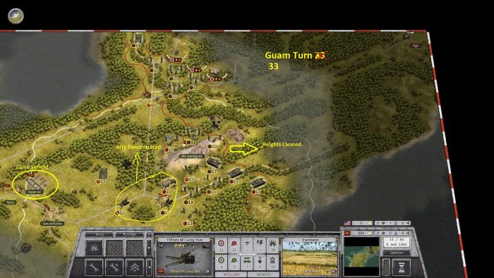 Guam turn 33 - Cleared the High Ground