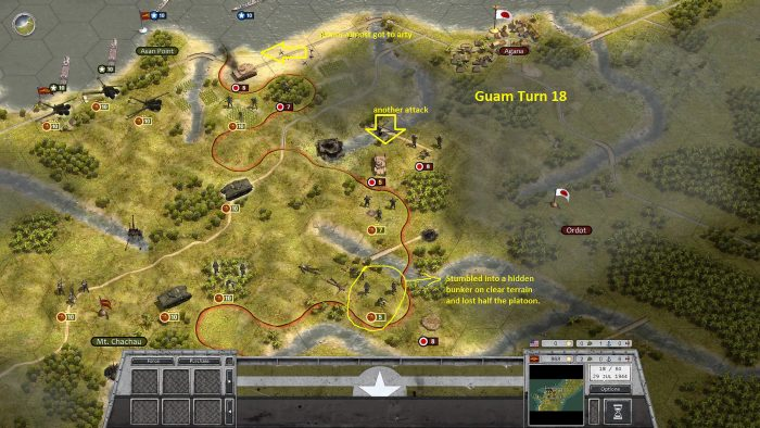 Guam Turn 18 Jap Armor Attacks