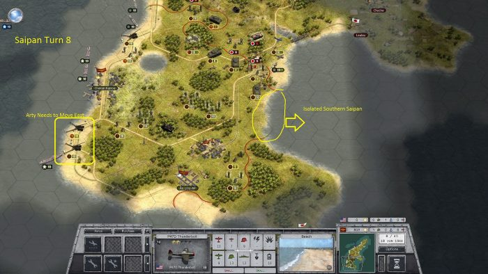 Turn 8 Southern Saipan Isolated