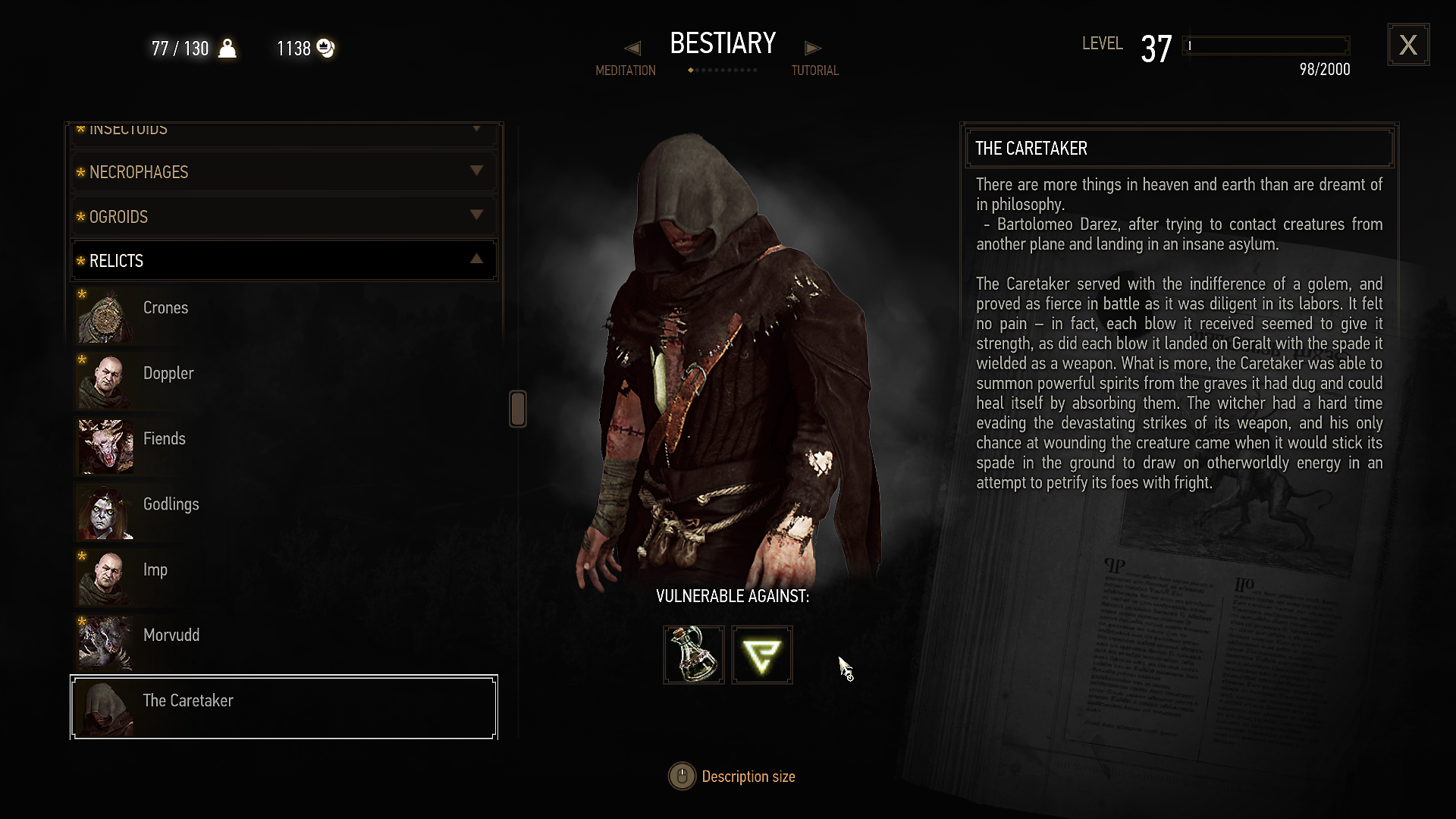Find Legal Justice – The Best Witcher 3 Caretaker Bestiary