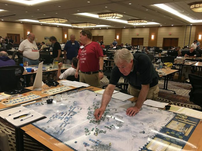 Serious wargamers having some serious fun
