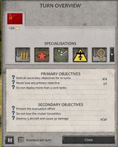 Fighting Retreat Objectives